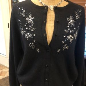 Embroidered and sequins cardigan